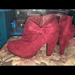 Super cute red booties perfect for holidays